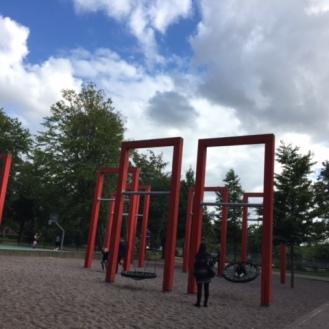 Swinging under amazing skies